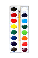 Watercolor paints palette