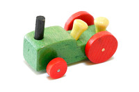 Vintage miniature wood tractor
